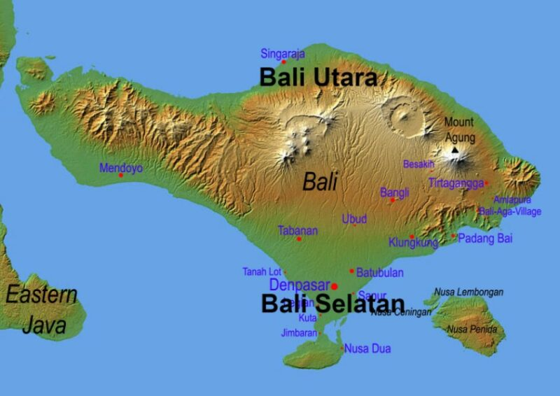 Kondisi Geografis Pulau Bali